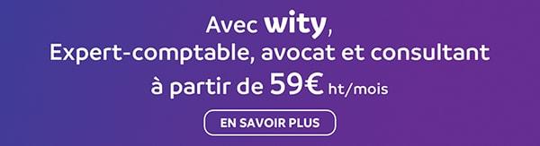 Avec Wity, Expert-comptable, Avocat et consultant à partir de 59 €